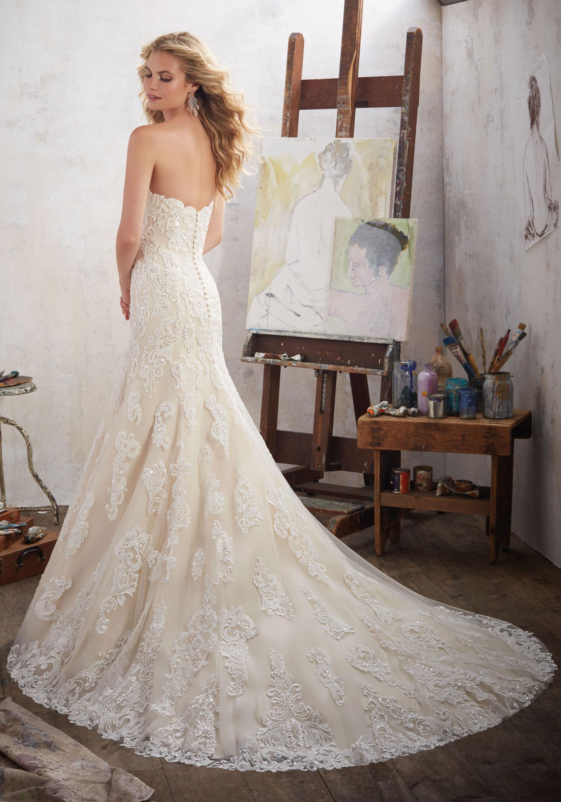 mermaid wedding dresses with sweetheart neckline photo - 1