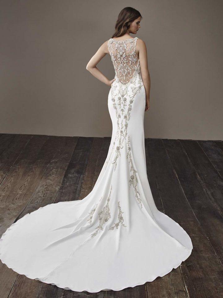 modern simple wedding dresses photo - 1