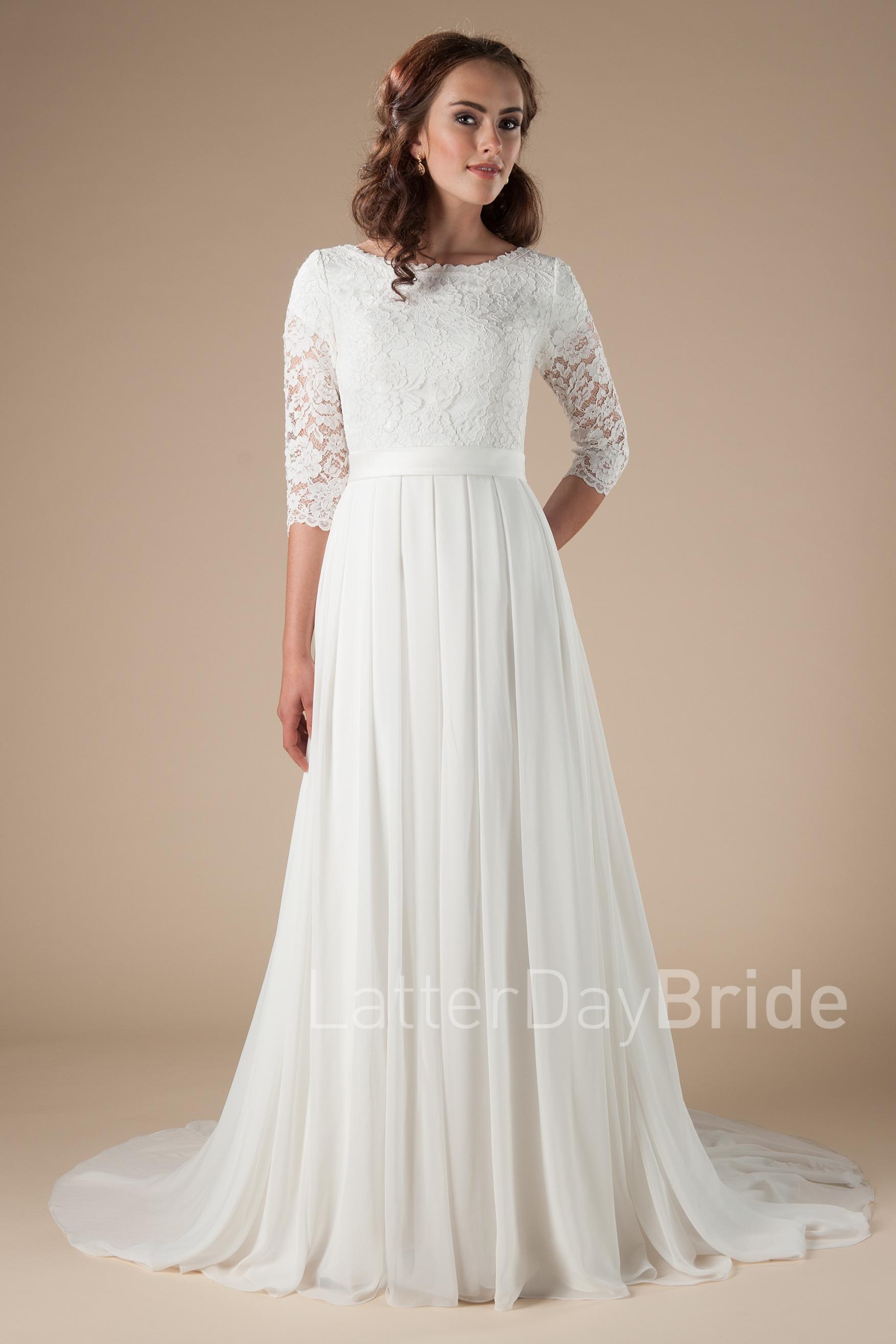 modest long sleeved wedding dresses photo - 1