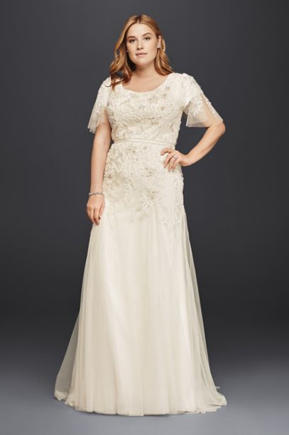 modest wedding dresses davids bridal photo - 1