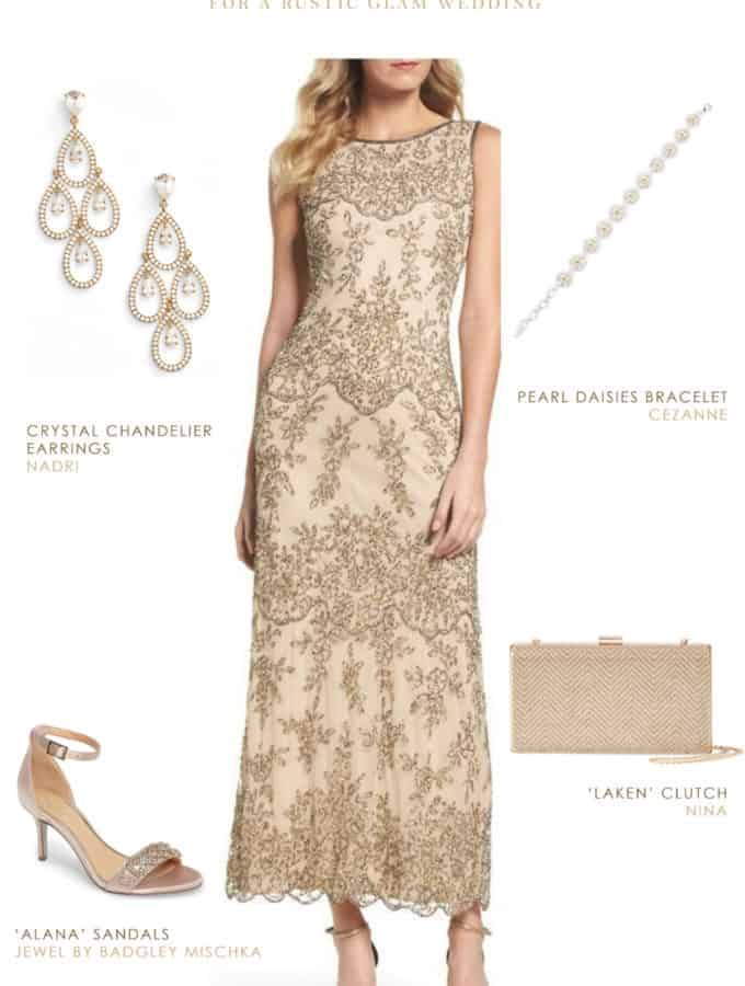 mother of the bride dresses rustic wedding photo - 1
