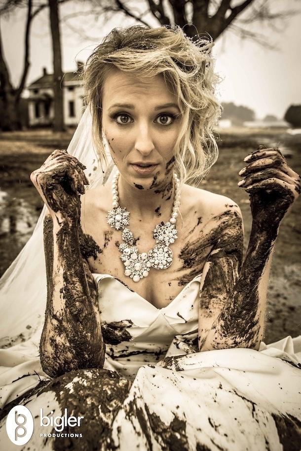 muddy girl wedding dresses photo - 1