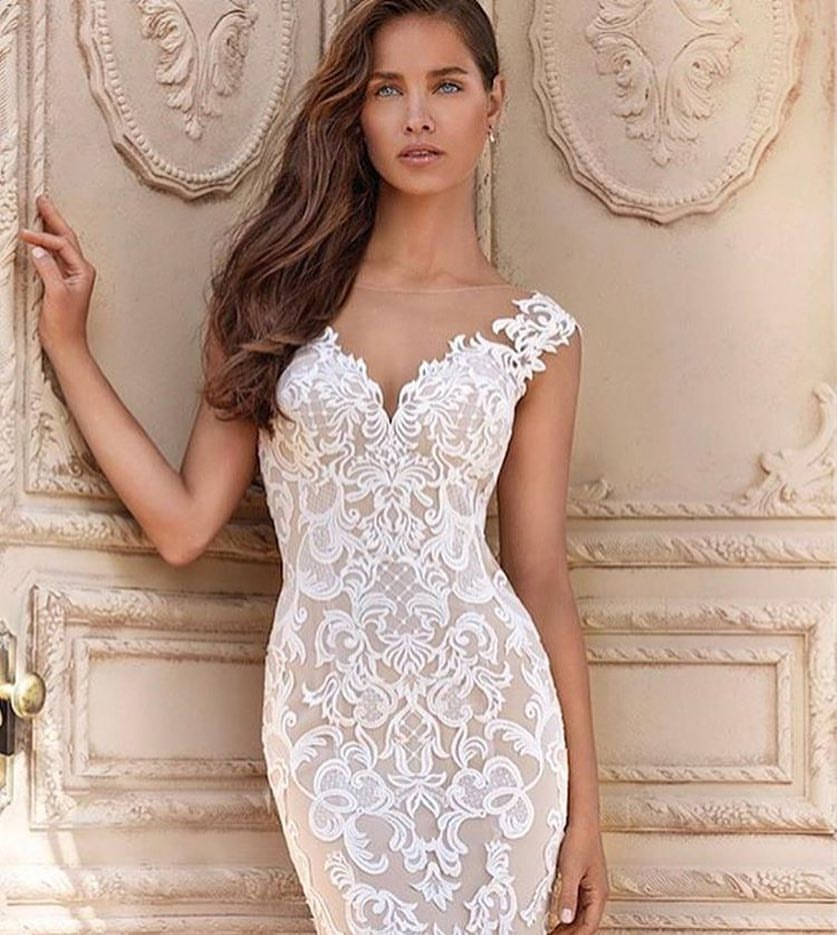 nude wedding dresses photo - 1