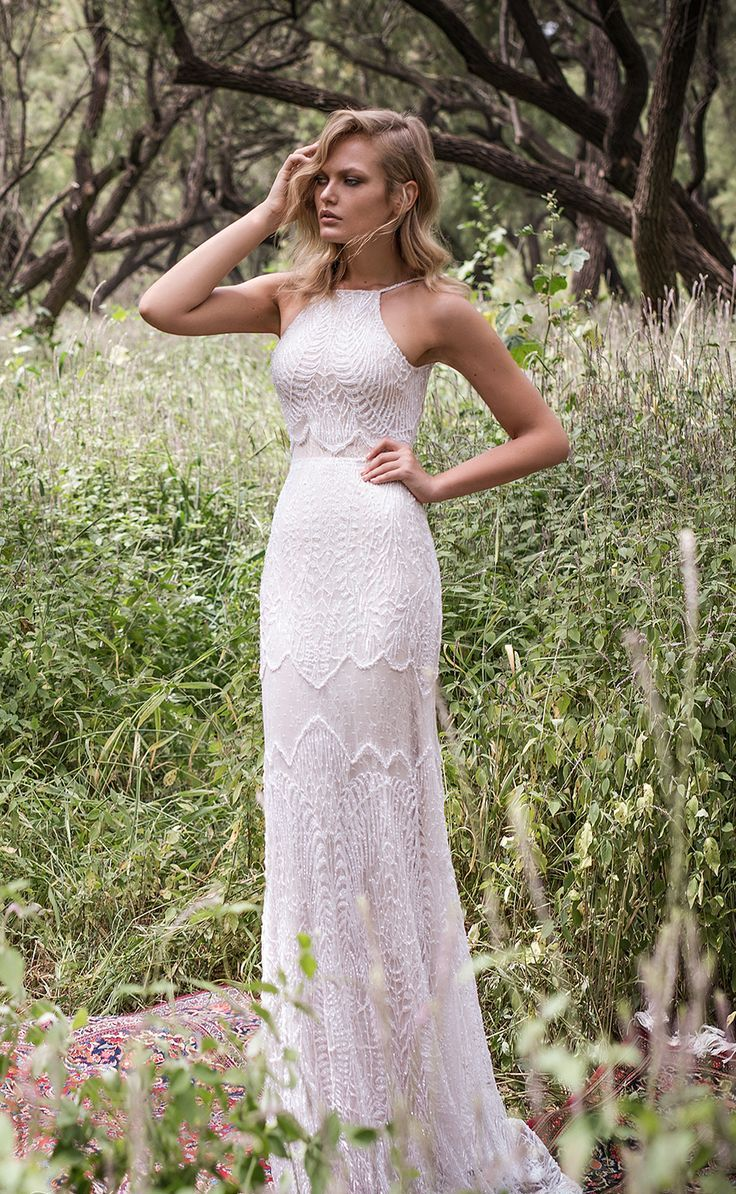 off the shoulder boho wedding dresses photo - 1
