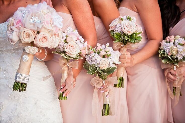 pink wedding dresses meaning photo - 1