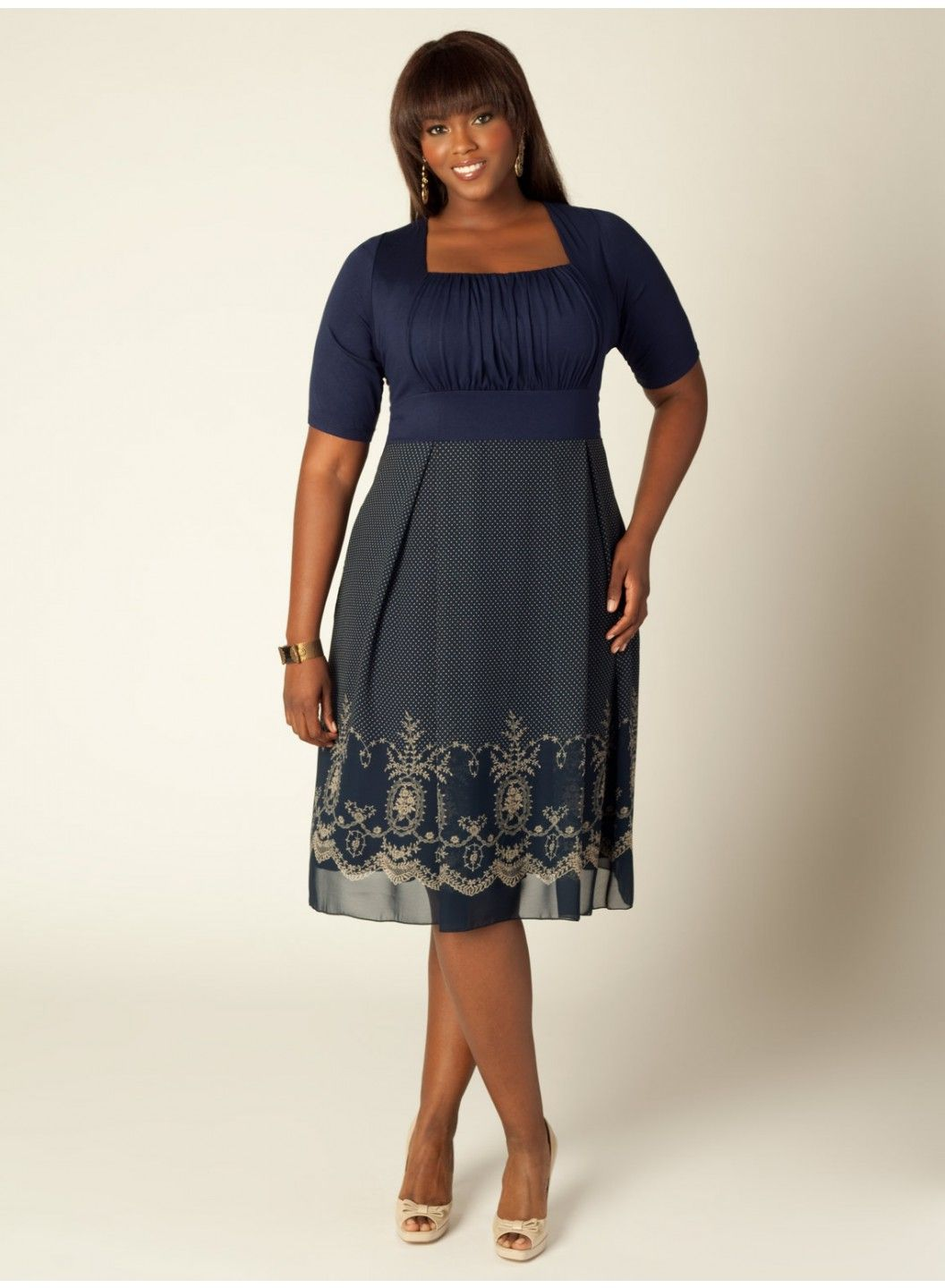 plus size dresses to wear to a wedding photo - 1