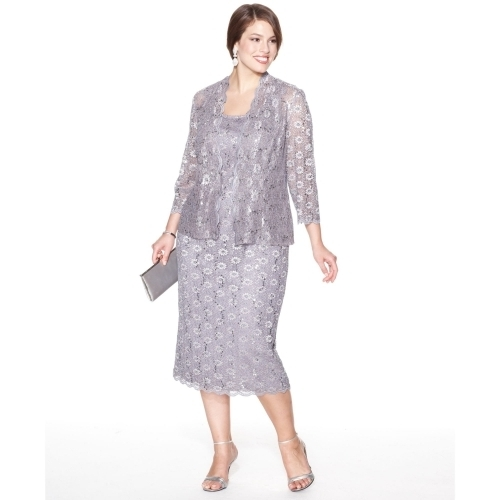 plus size evening dresses with jackets photo - 1