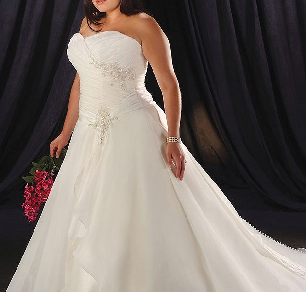 plus size pin up wedding dresses photo - 1