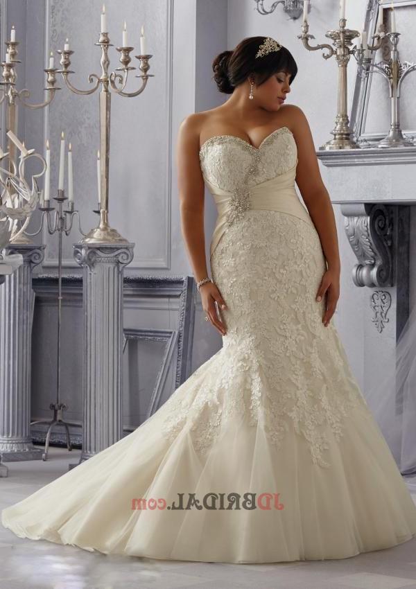 plus size trumpet wedding dresses photo - 1