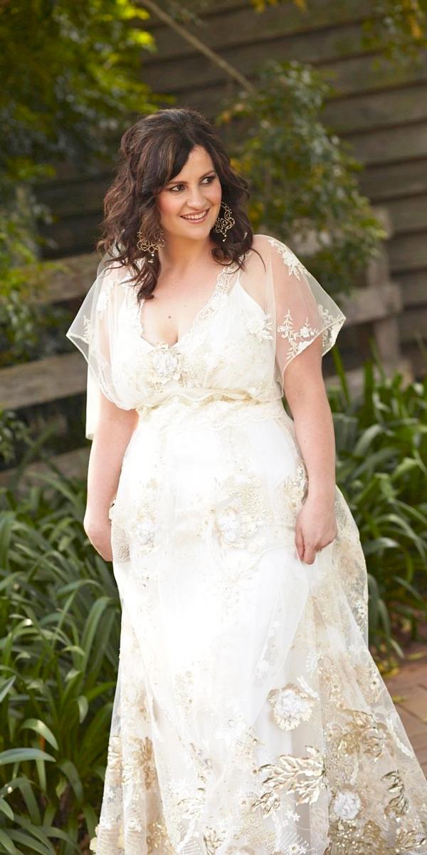 plus size vintage wedding dresses with sleeves photo - 1