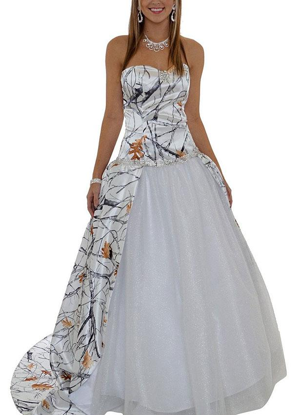 purple accented wedding dresses photo - 1
