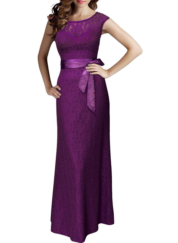 purple dresses to wear to a wedding photo - 1