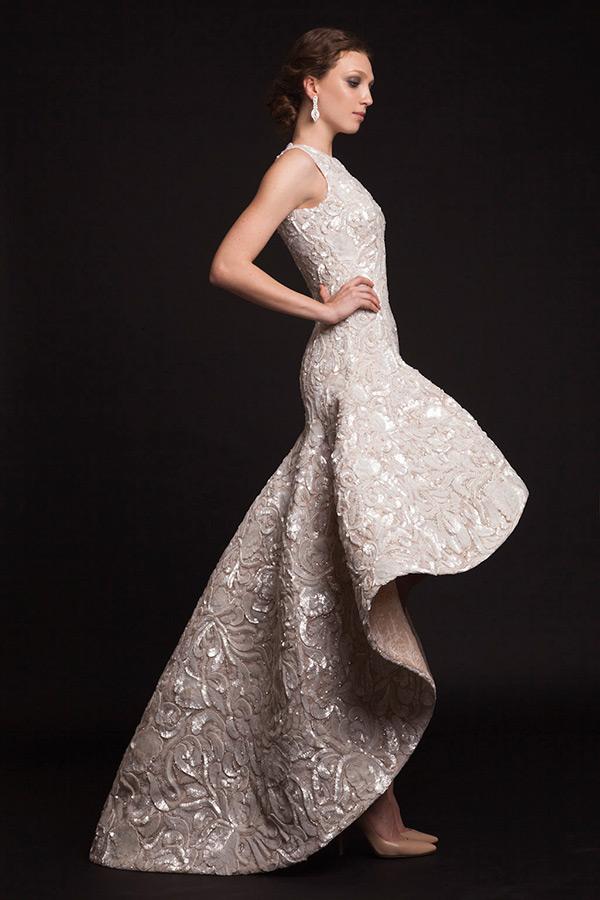 purple wedding dresses with sleeves photo - 1