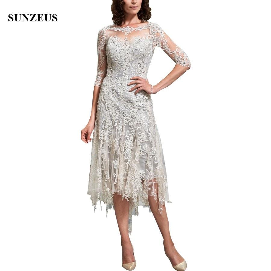 quarter length sleeve wedding dresses photo - 1