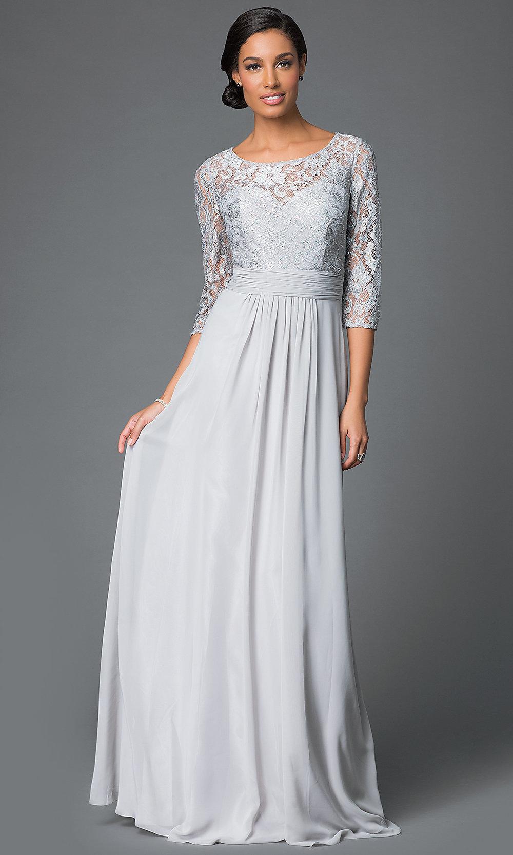 quarter sleeve lace wedding dresses photo - 1