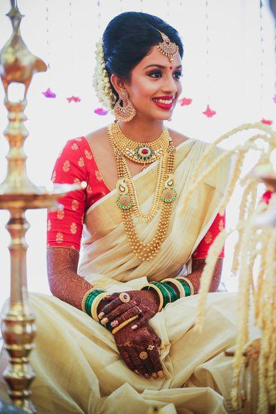 red indian wedding dresses photo - 1