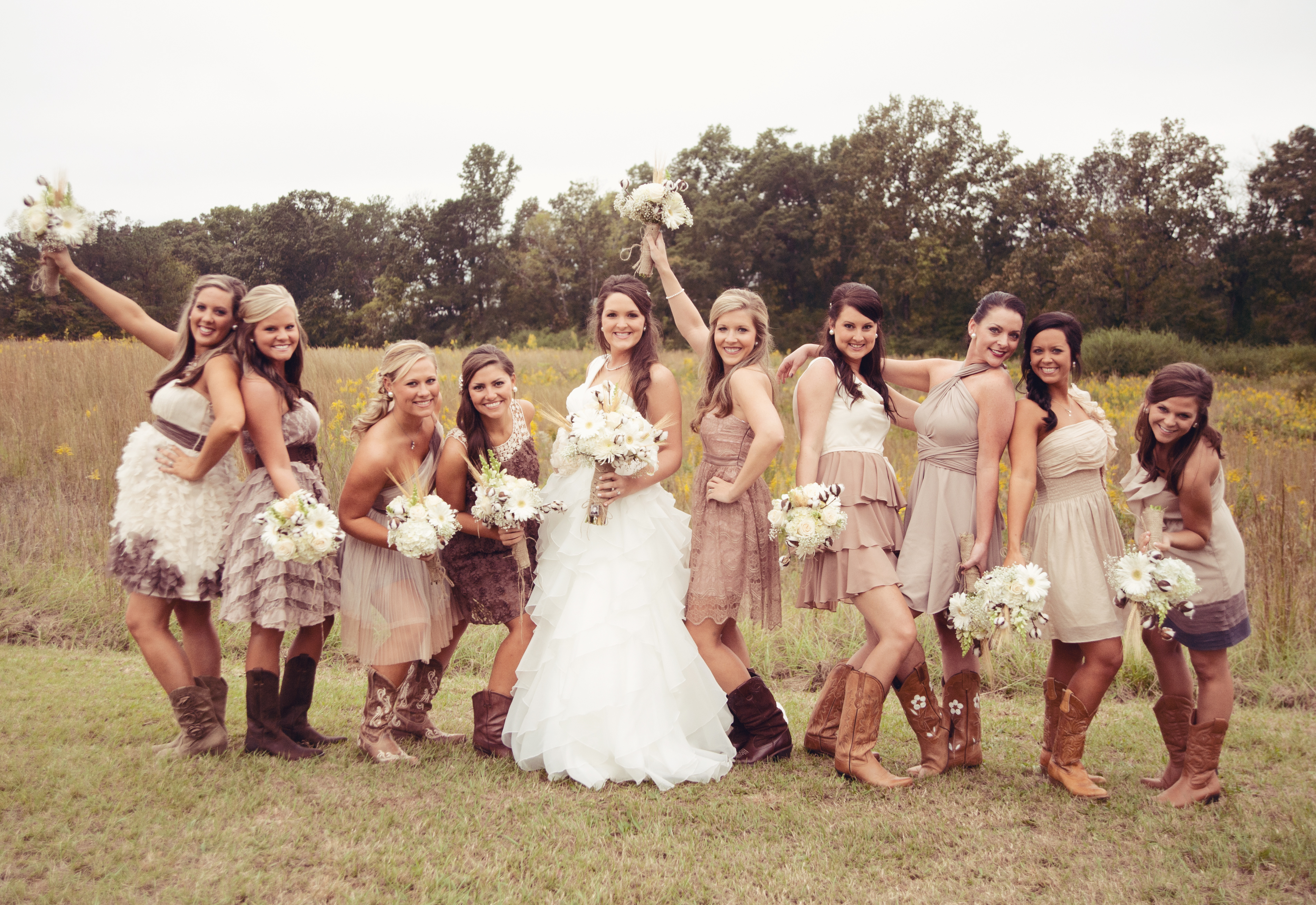 rustic wedding bridesmaid dresses photo - 1