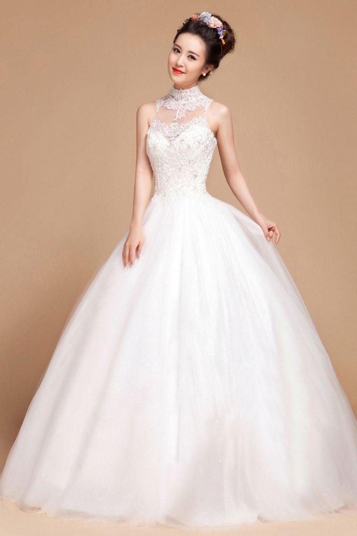 satin ball gown wedding dresses photo - 1