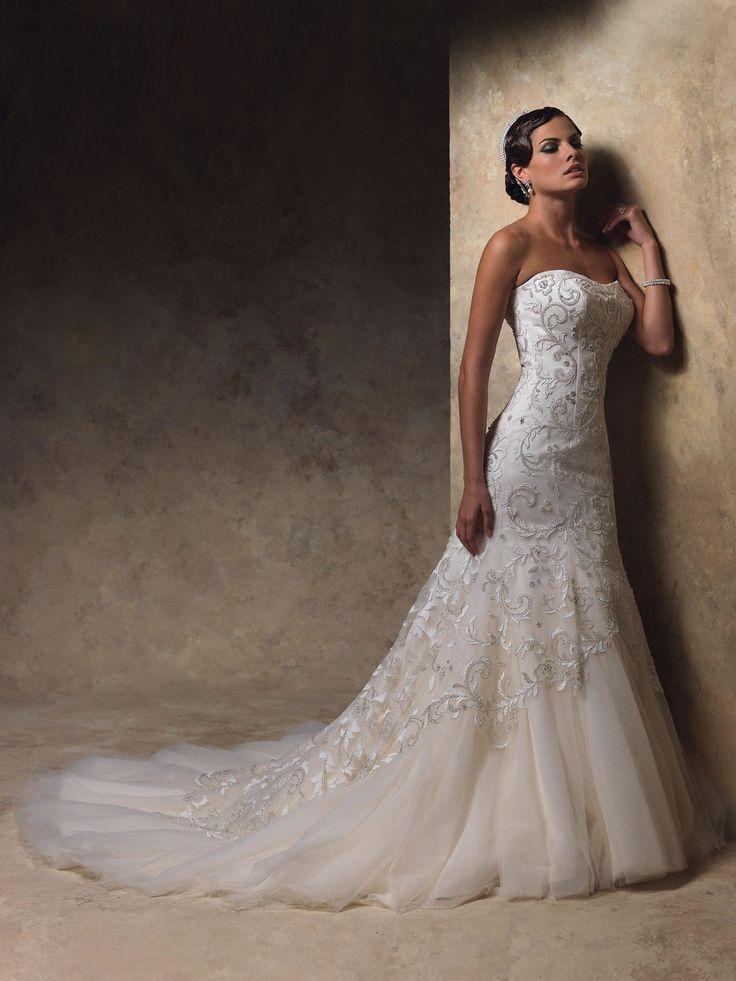 satin mermaid wedding dresses photo - 1
