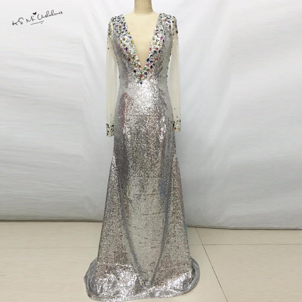 sequins evening dresses photo - 1