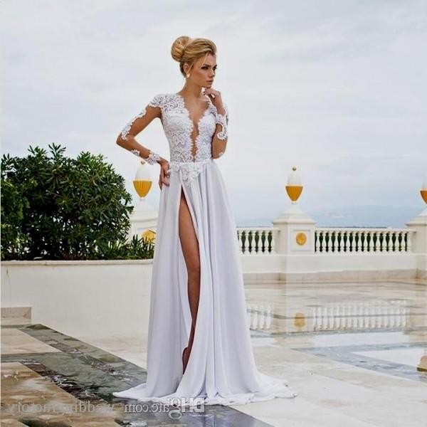sexy beach wedding dresses photo - 1