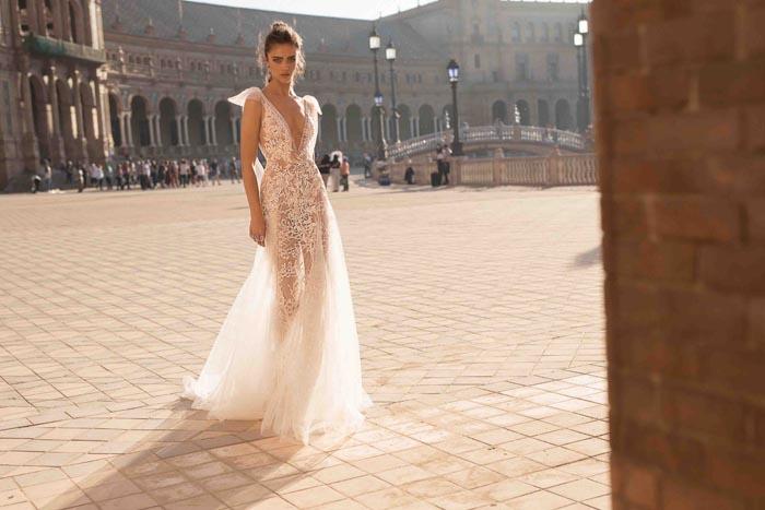 sexy long wedding dresses photo - 1