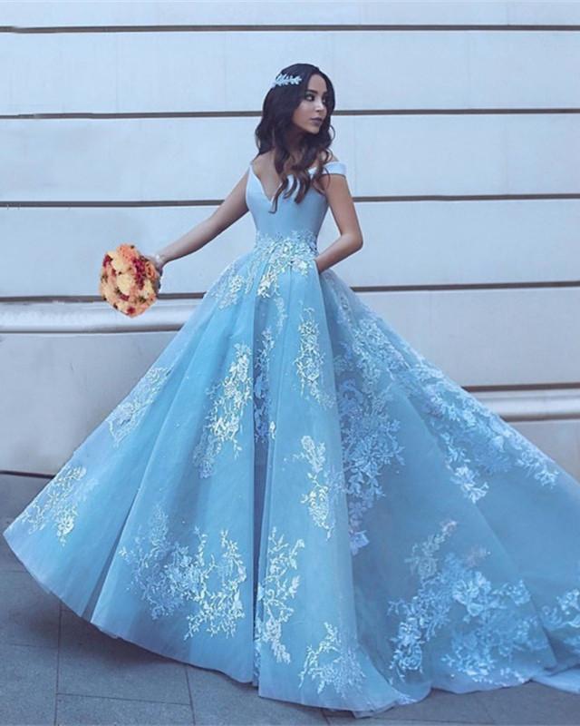 short blue wedding dresses photo - 1