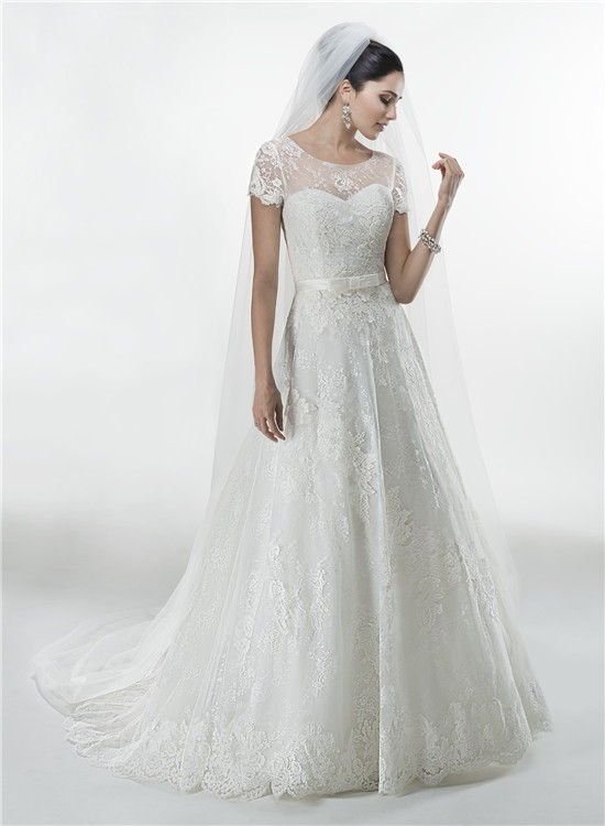short plus size wedding dresses with sleeves photo - 1