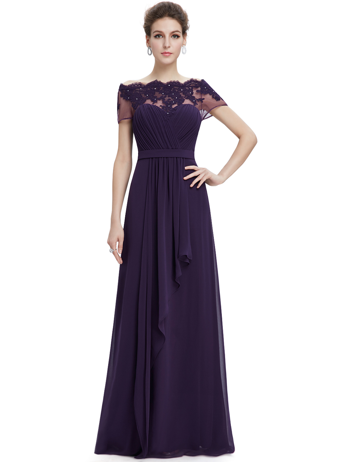 short sleeve dresses for wedding guests photo - 1