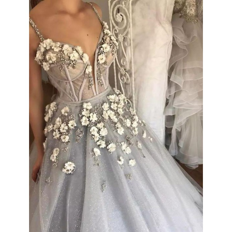 silver wedding dresses for sale photo - 1
