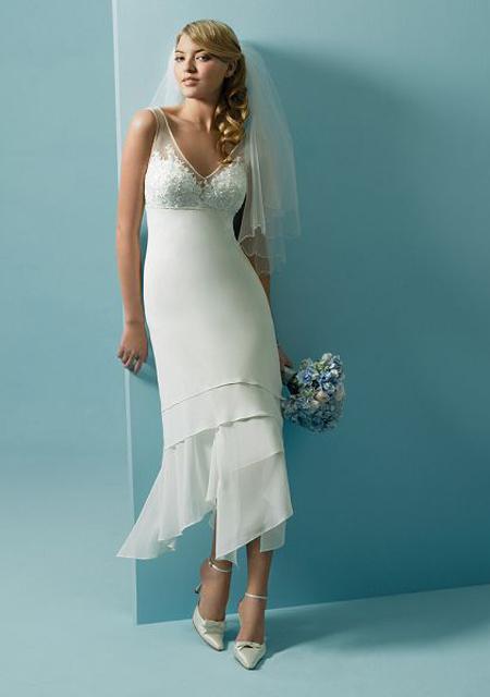simple chiffon wedding dresses photo - 1