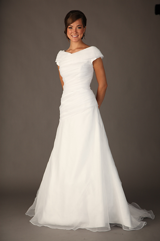 simple silk wedding dresses photo - 1