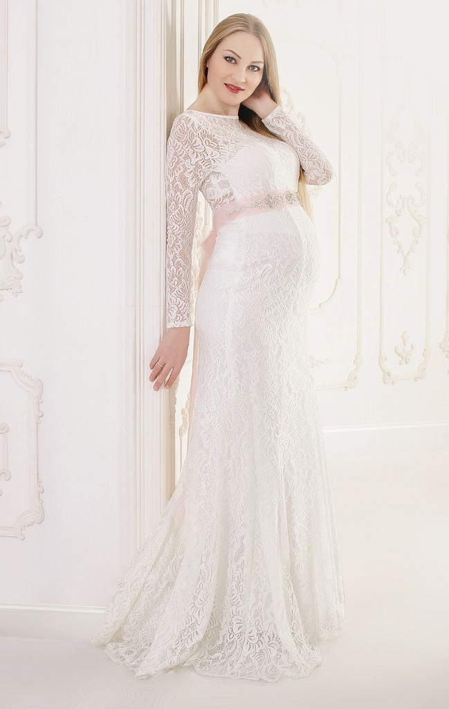 simple wedding dresses long sleeves photo - 1