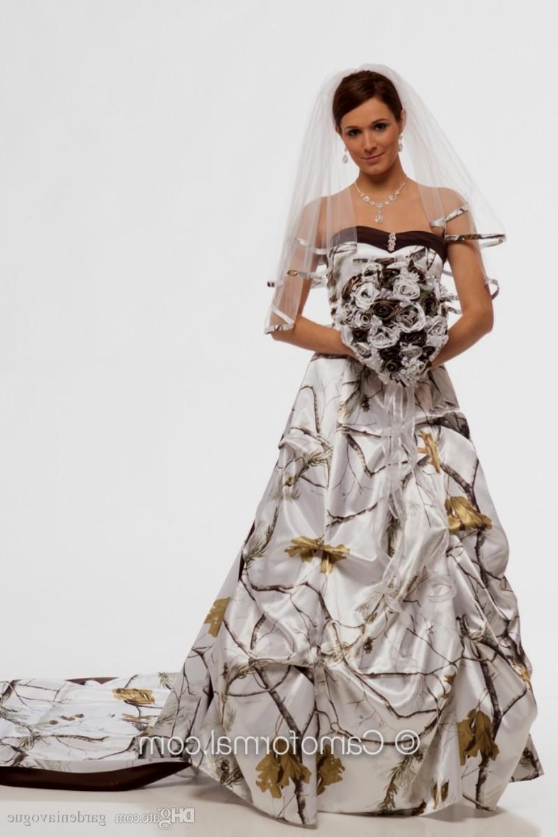 snow white camo wedding dresses photo - 1