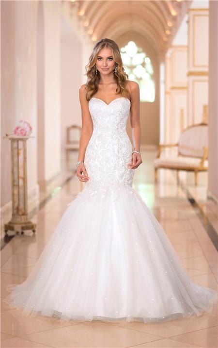 sparkly mermaid wedding dresses photo - 1