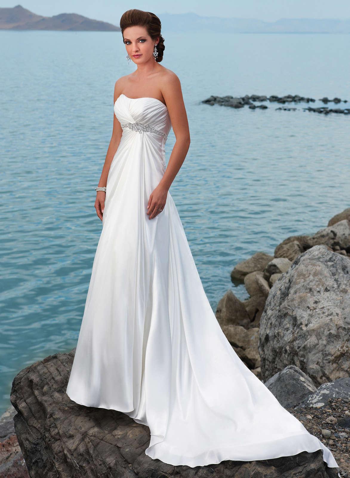 strapless beach wedding dresses photo - 1