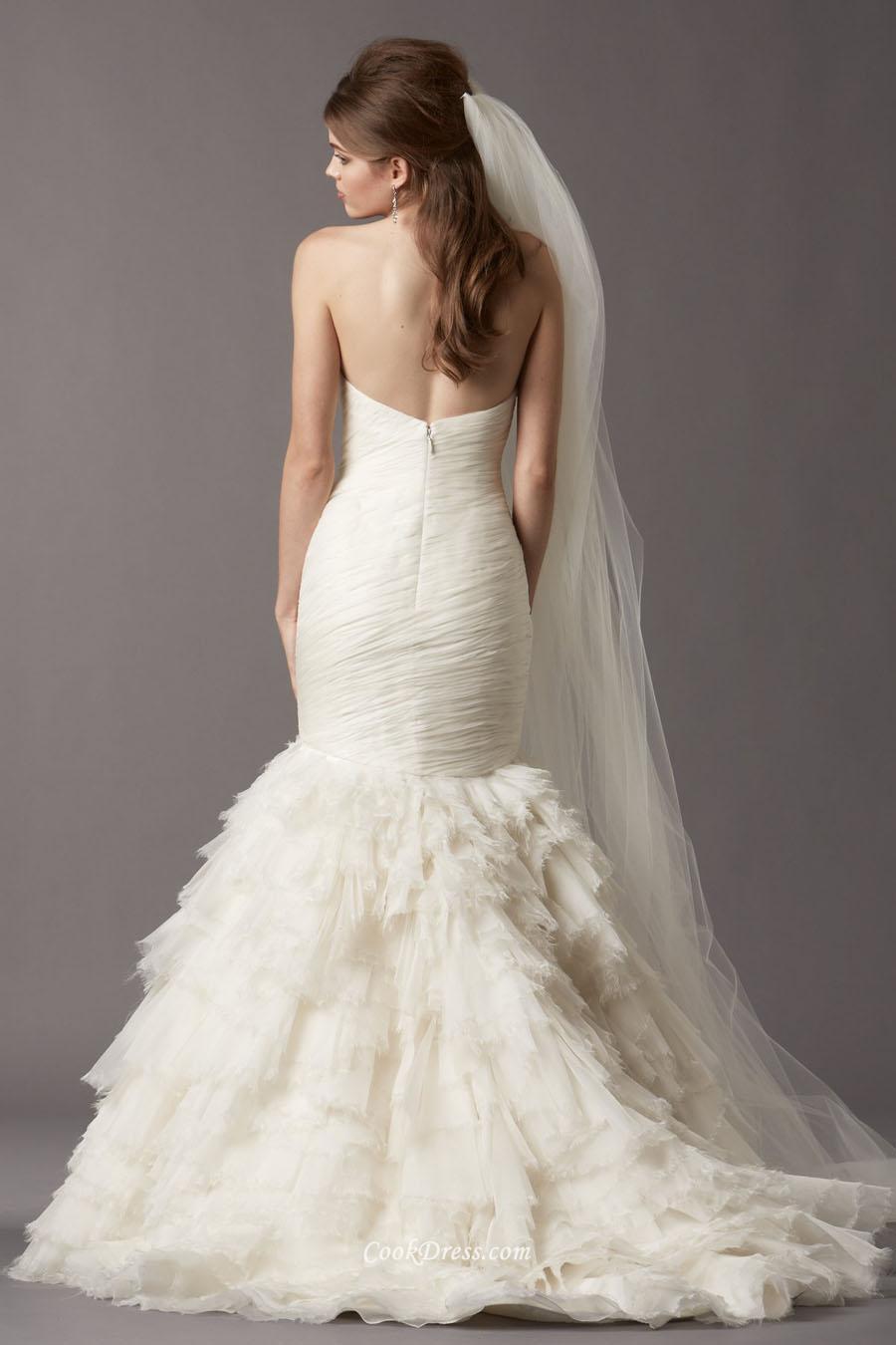 strapless white wedding dresses photo - 1