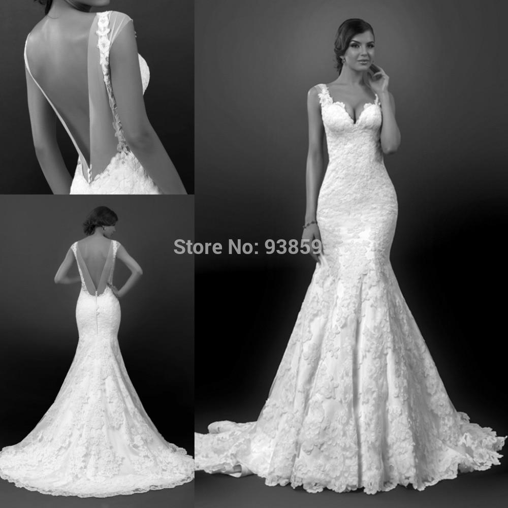 sweetheart neckline mermaid style wedding dresses photo - 1