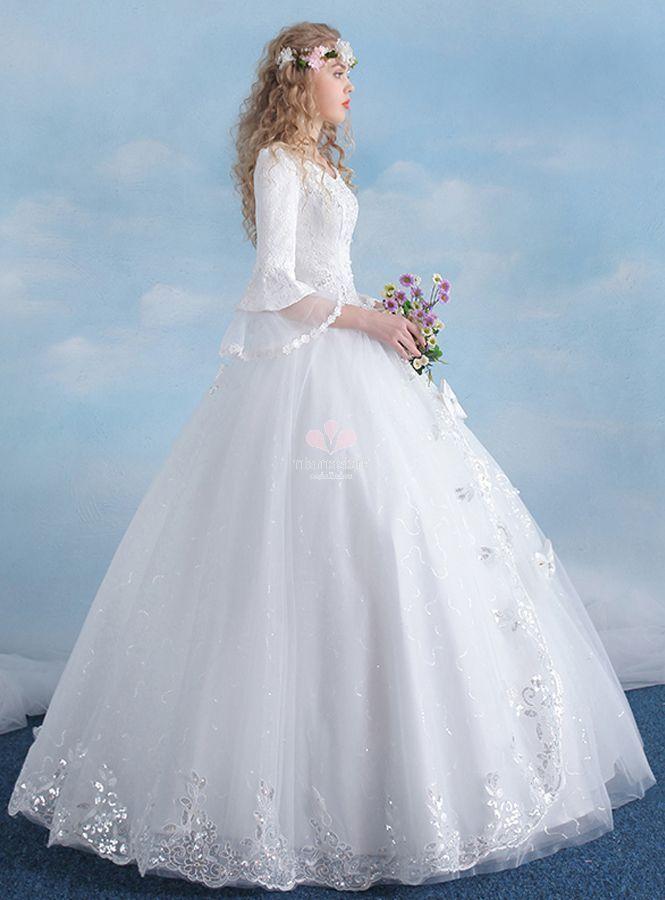 tulle bottom wedding dresses photo - 1