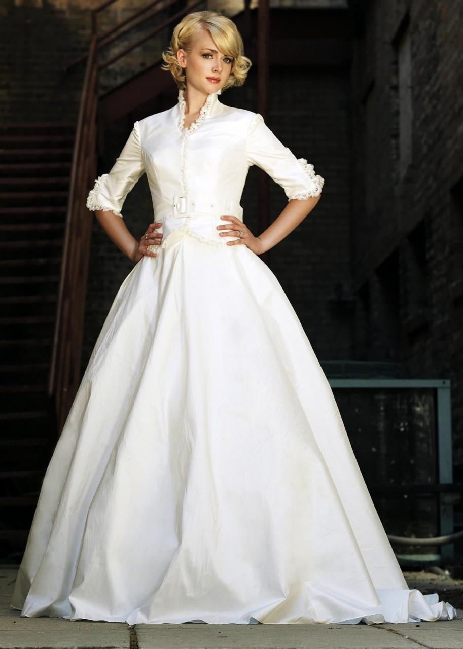 used modest wedding dresses photo - 1