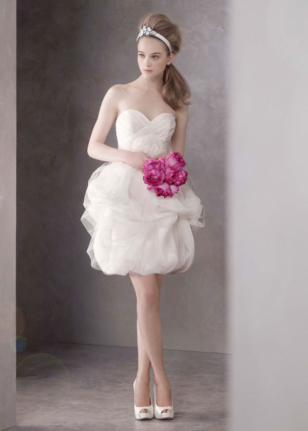 vera wang short wedding dresses photo - 1