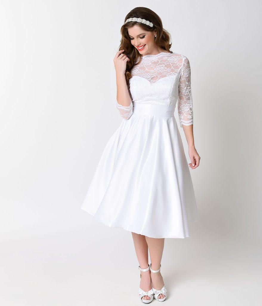 vintage inspired wedding dresses lace photo - 1