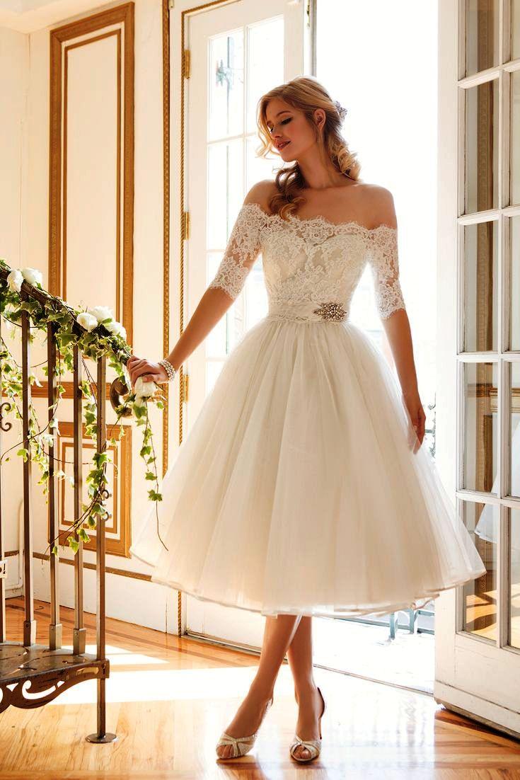 vintage style short wedding dresses photo - 1
