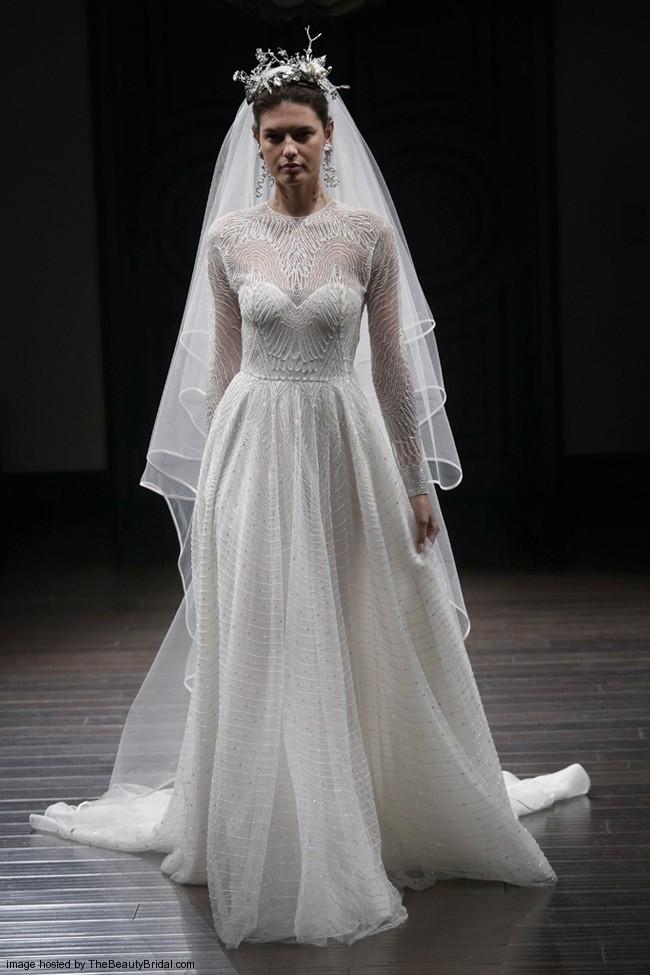 vintage wedding dresses long sleeve photo - 1
