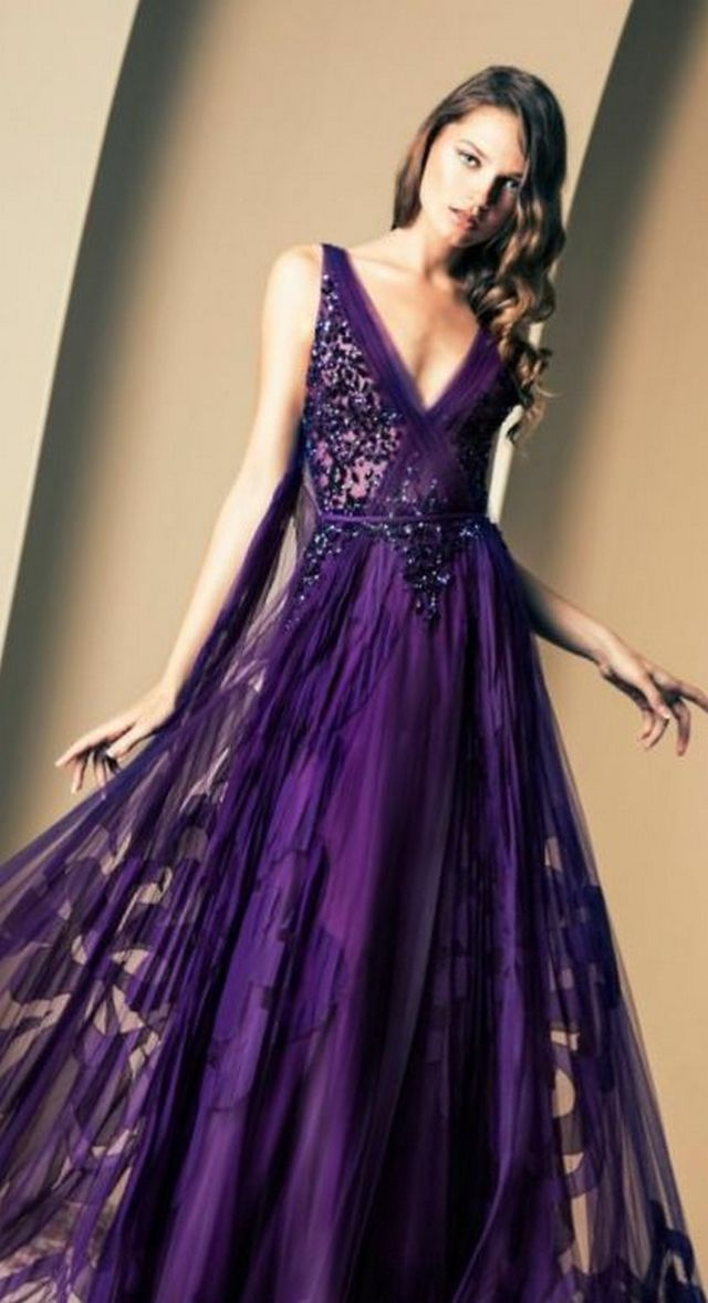 violet wedding dresses photo - 1