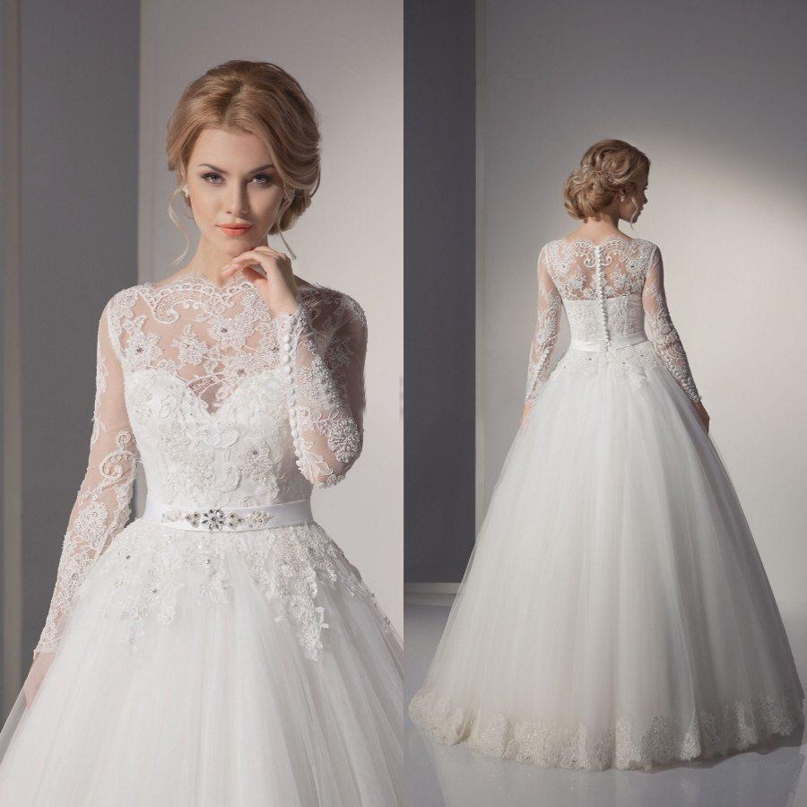 wedding dresses 2016 lace photo - 1