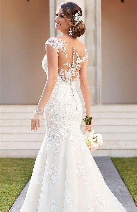wedding dresses button back photo - 1