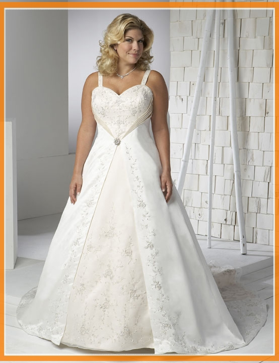 wedding dresses cheap plus size photo - 1