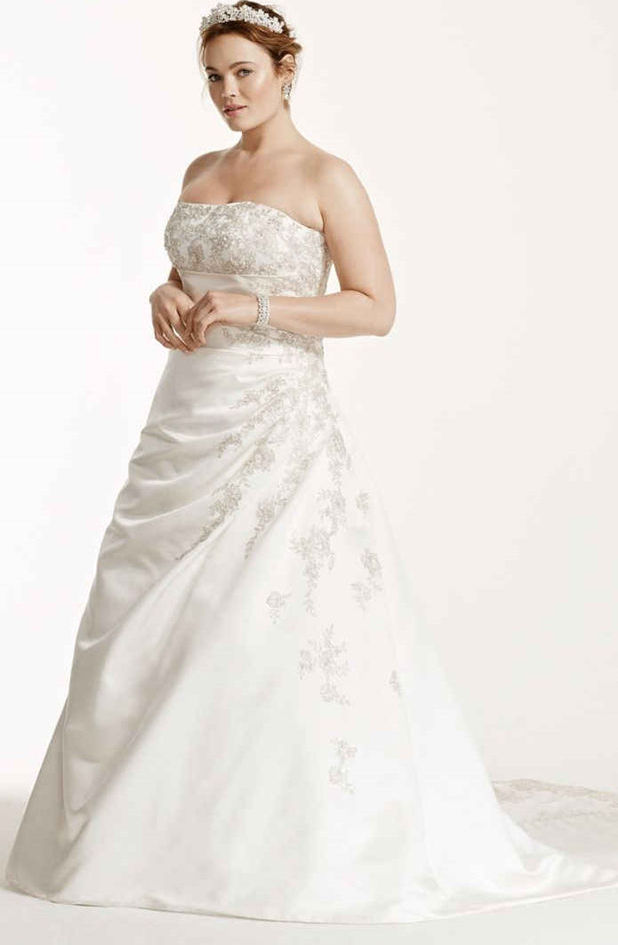 wedding dresses for 40 year old bride photo - 1