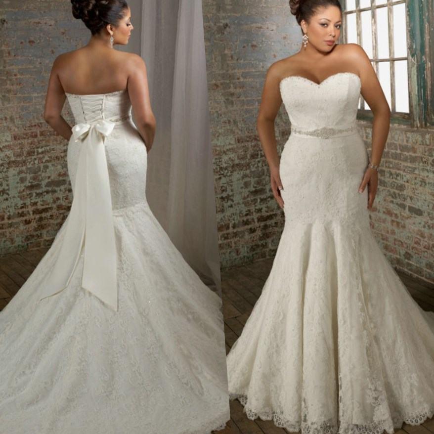 wedding dresses for larger women photo - 1